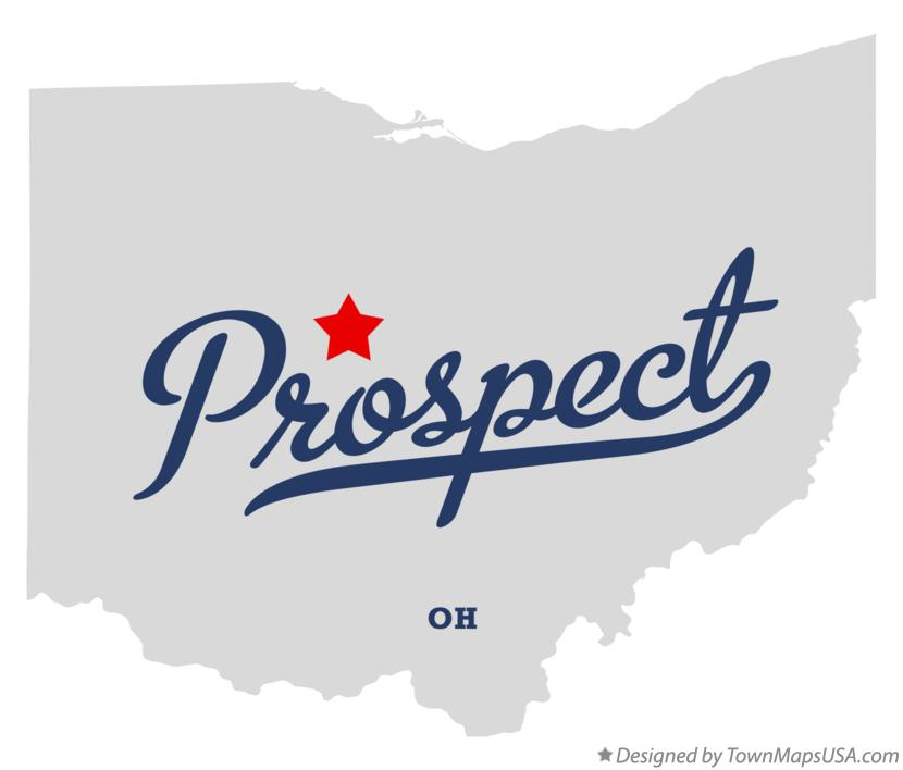 Map of Prospect Ohio OH