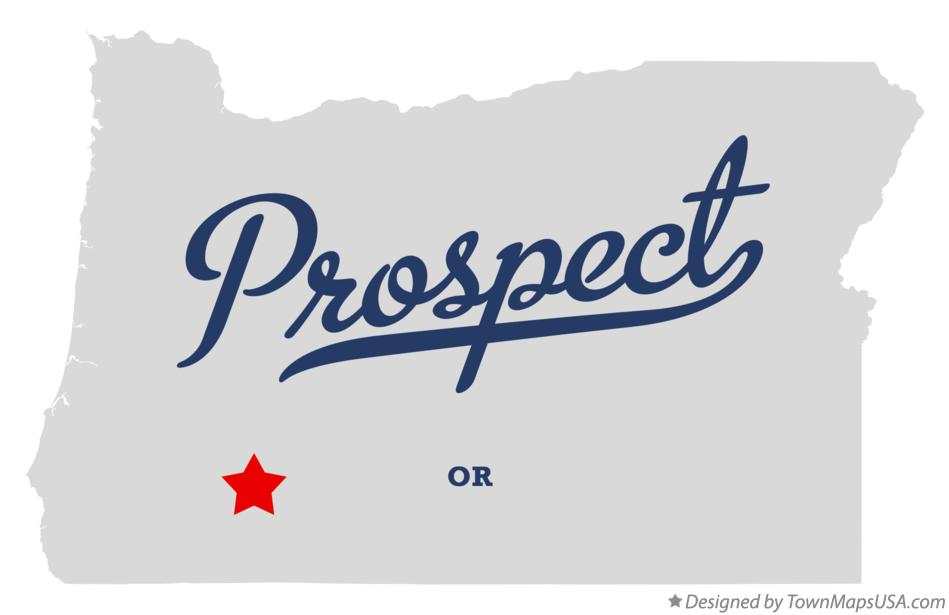 Map of Prospect Oregon OR