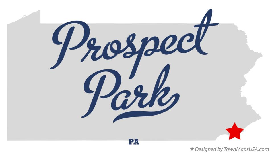 Map of Prospect Park Pennsylvania PA