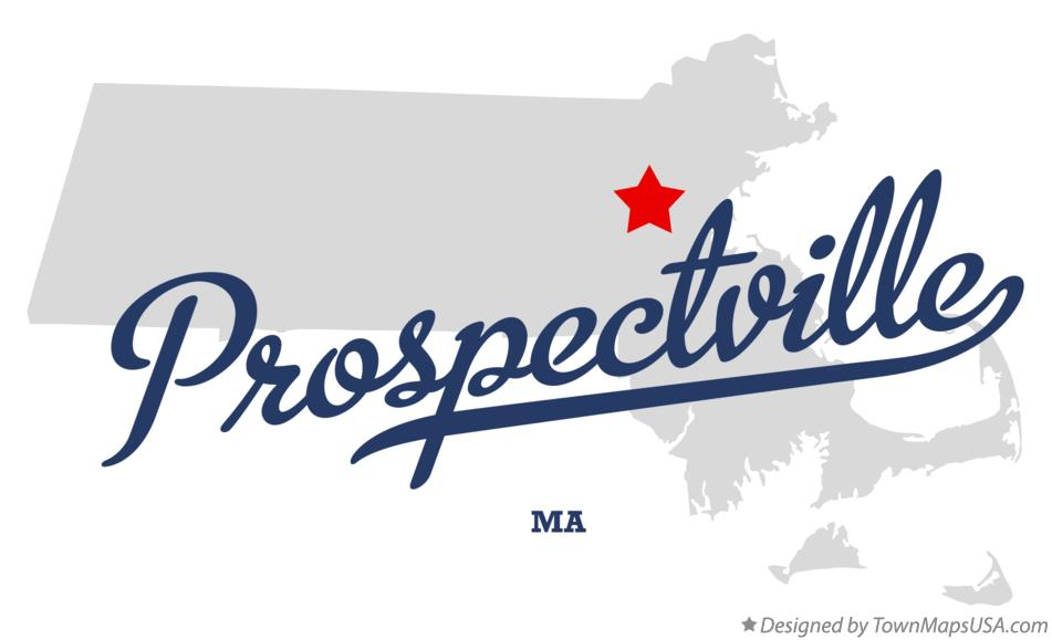 Map of Prospectville Massachusetts MA