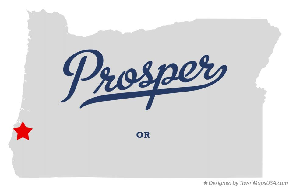 Map of Prosper Oregon OR