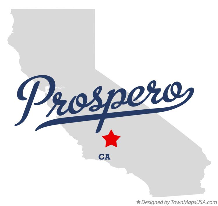Map of Prospero California CA