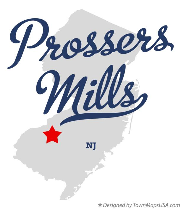 Map of Prossers Mills New Jersey NJ