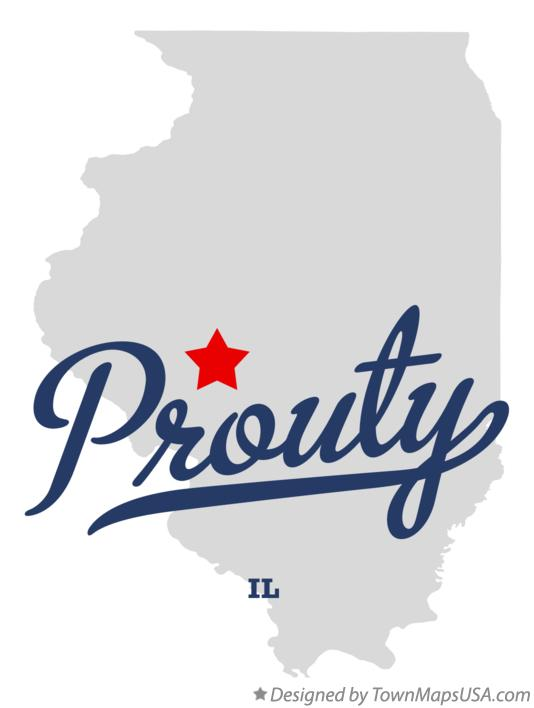 Map of Prouty Illinois IL