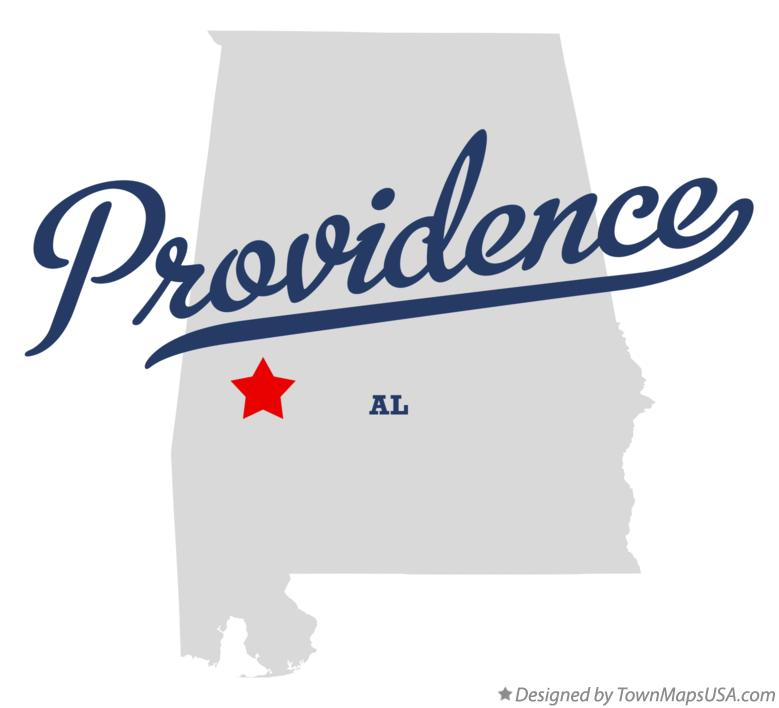 Map of Providence Alabama AL