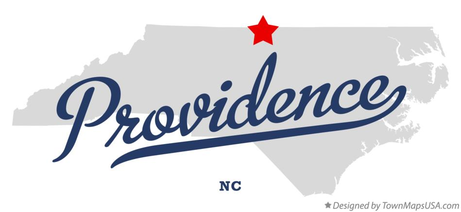 Map of Providence North Carolina NC