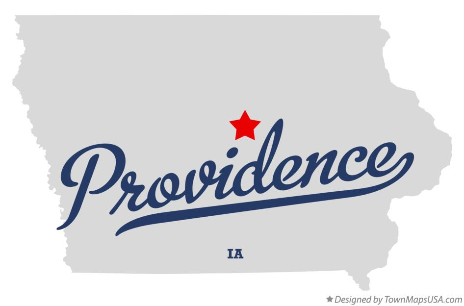 Map of Providence Iowa IA