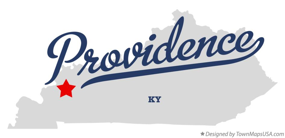 Map of Providence Kentucky KY