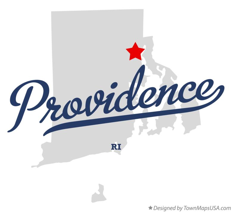 Map of Providence, RI, Rhode Island