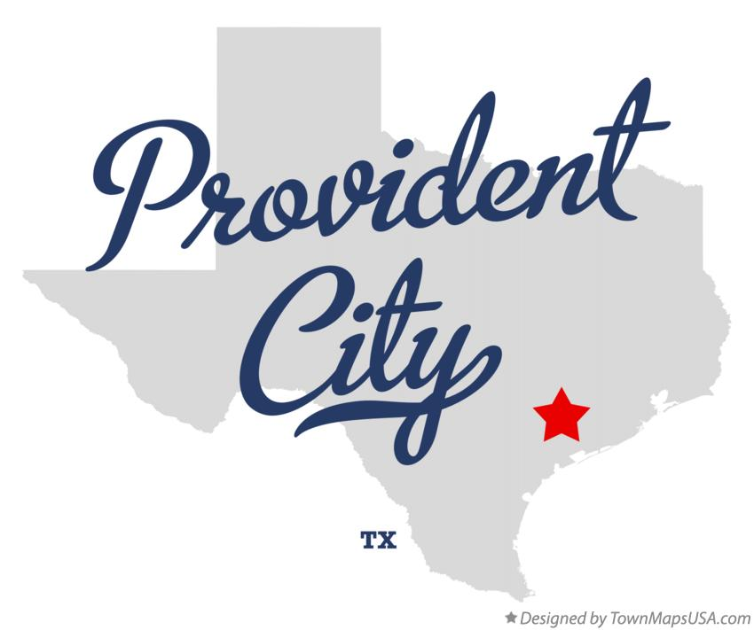Map of Provident City Texas TX