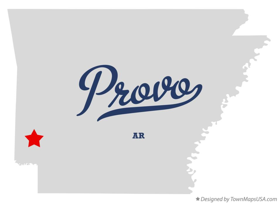 Map of Provo Arkansas AR