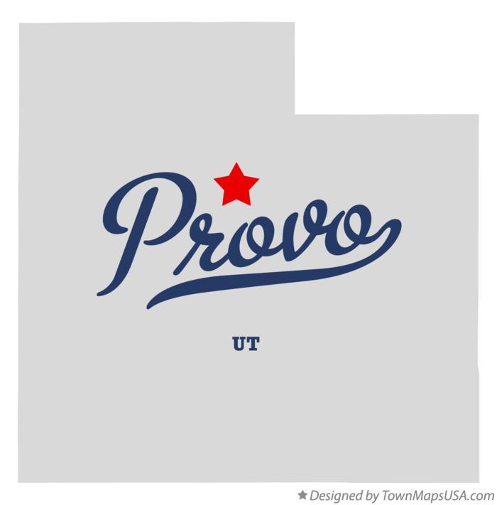 Map Of Provo Ut Utah