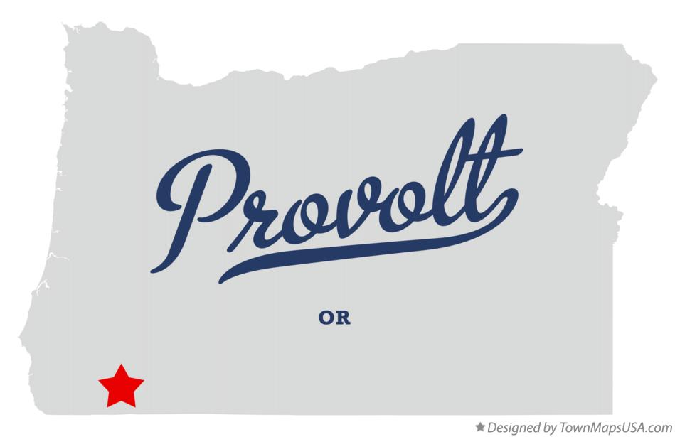 Map of Provolt Oregon OR