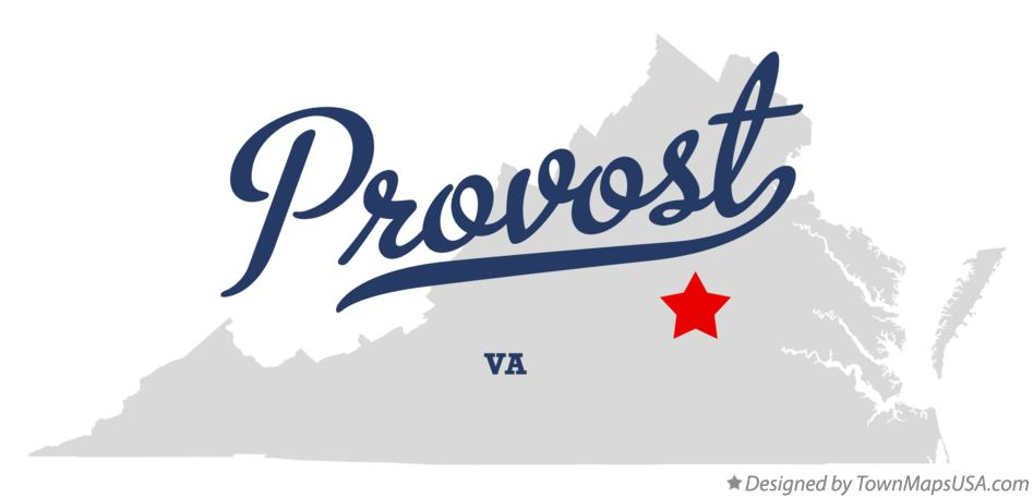 Map of Provost Virginia VA