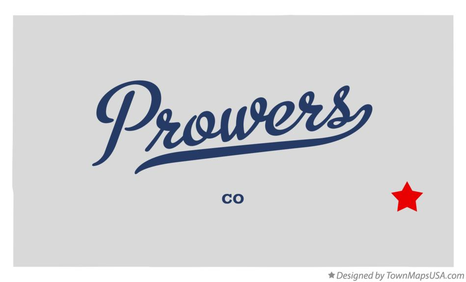 Map of Prowers Colorado CO