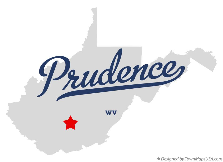 Map of Prudence West Virginia WV