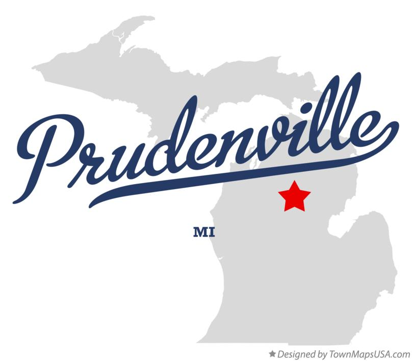Map of Prudenville Michigan MI