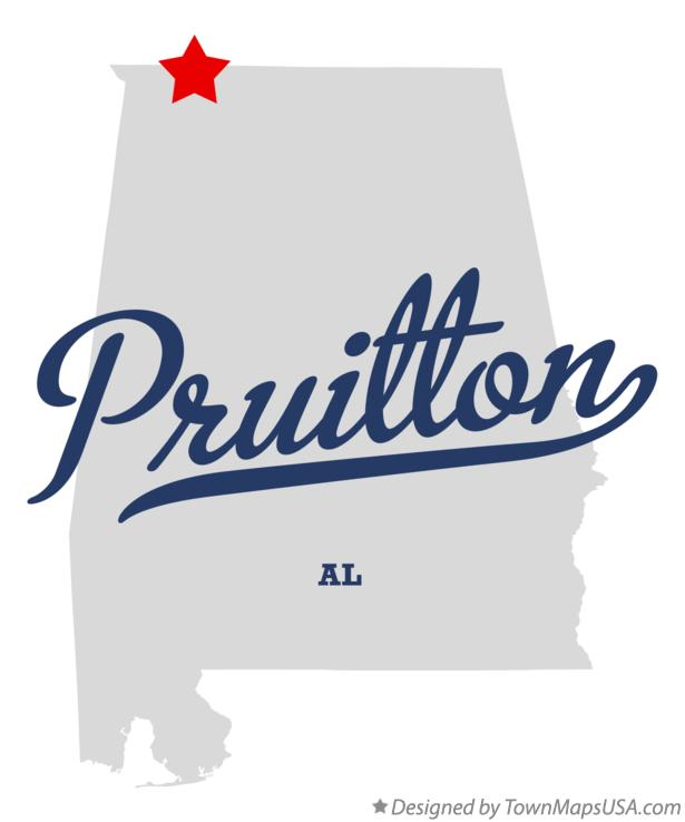Map of Pruitton Alabama AL