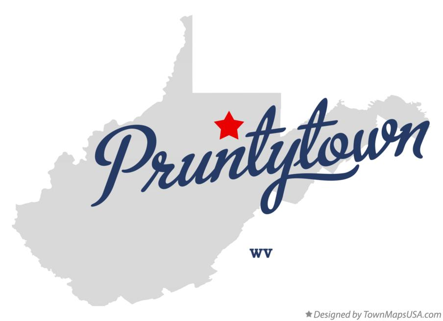 Map of Pruntytown West Virginia WV