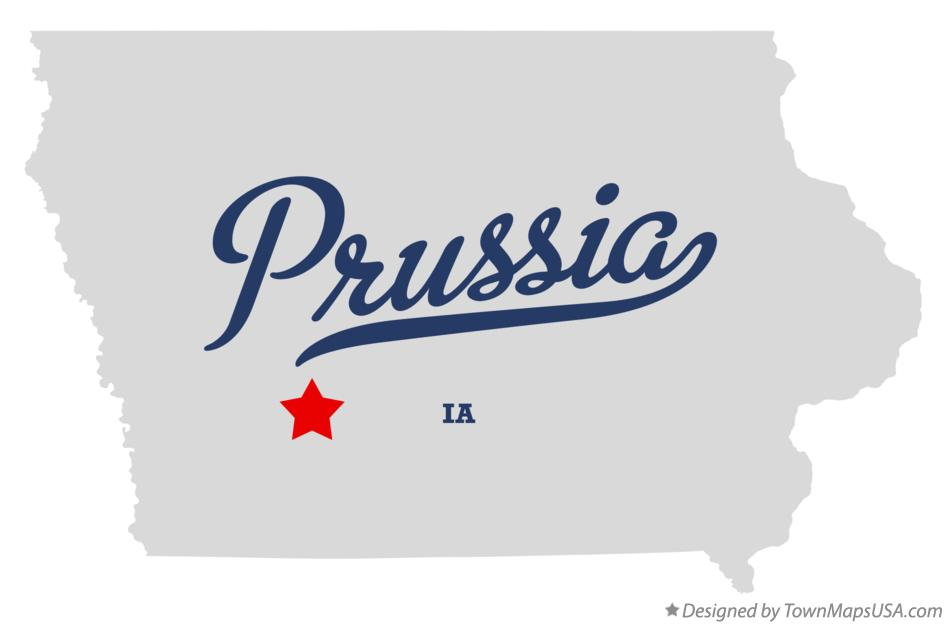 Map of Prussia Iowa IA