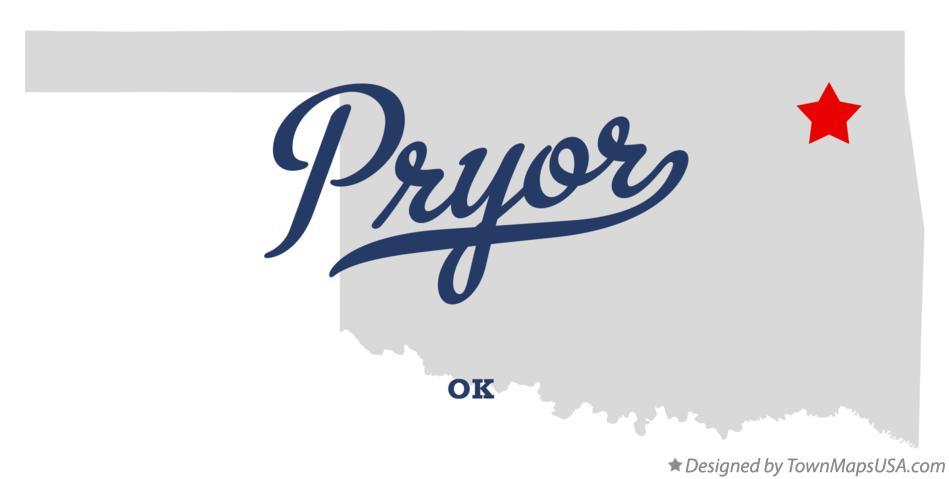 Pryor (OK) United States  city photos : Map of Pryor Oklahoma OK