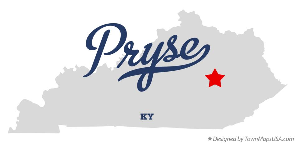 Map of Pryse Kentucky KY