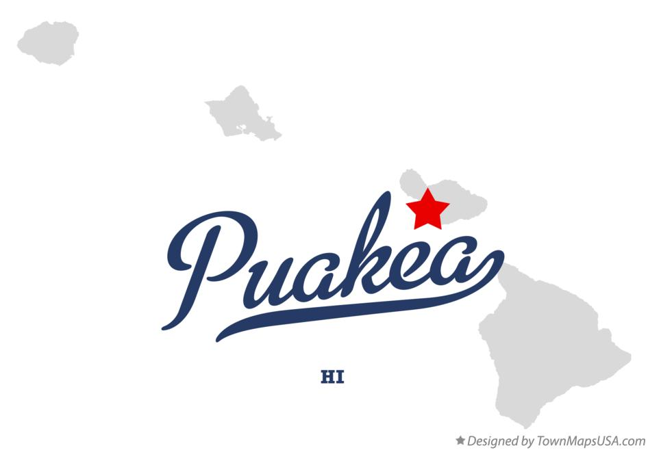 Map of Puakea Hawaii HI