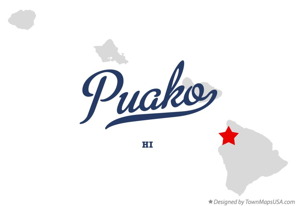 Map of Puako Hawaii HI