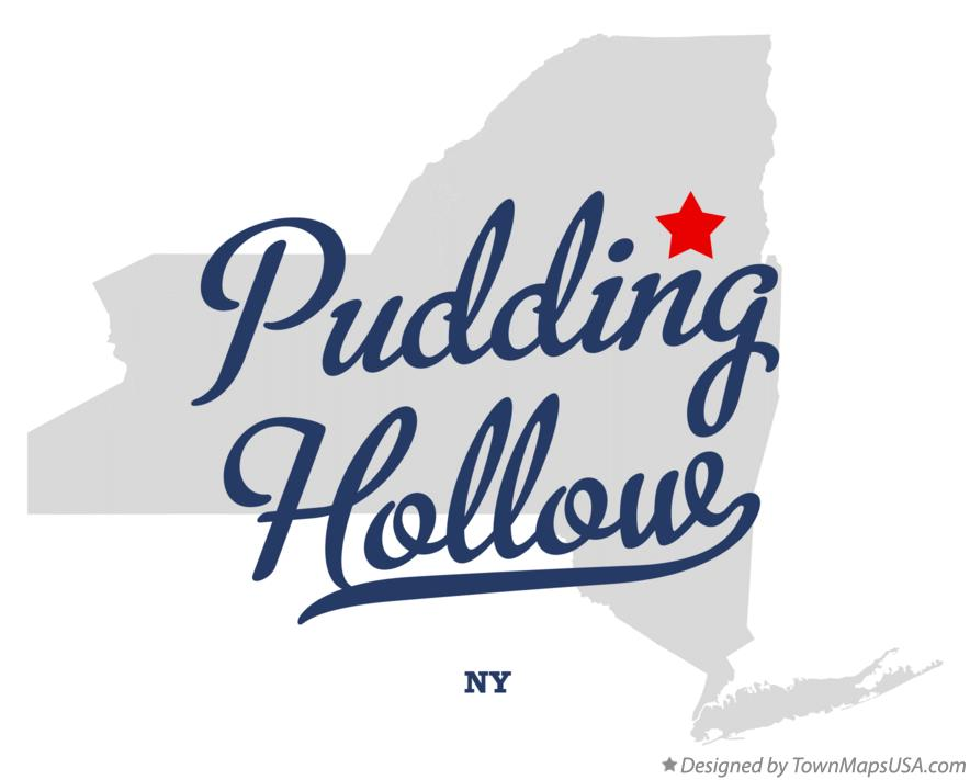 Map of Pudding Hollow New York NY