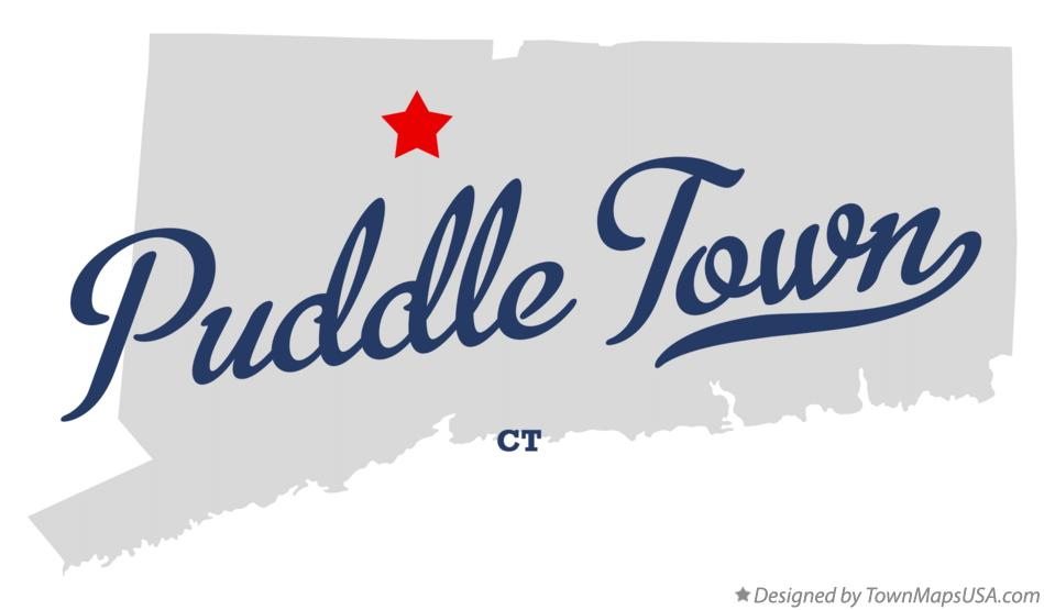 Map of Puddle Town Connecticut CT