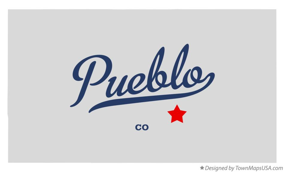 Map of Pueblo Colorado CO