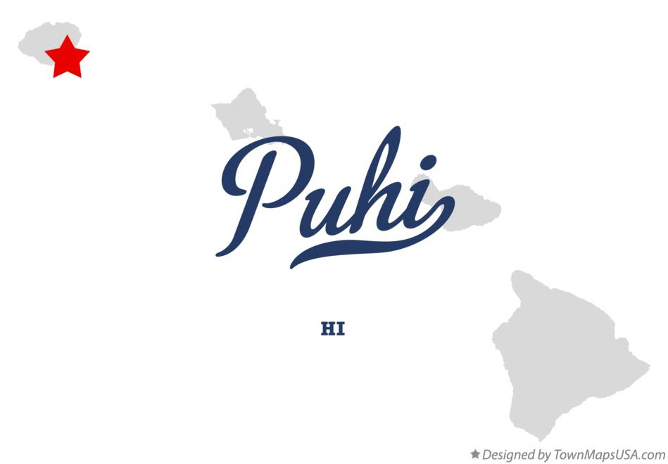 Map of Puhi Hawaii HI