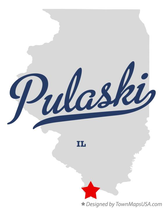 Map of Pulaski Illinois IL