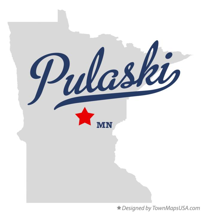 Map of Pulaski Minnesota MN