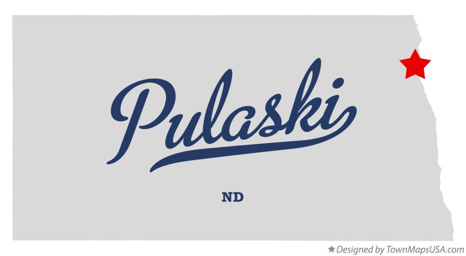Map of Pulaski North Dakota ND