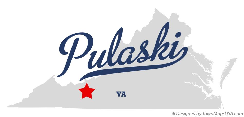 Map of Pulaski Virginia VA
