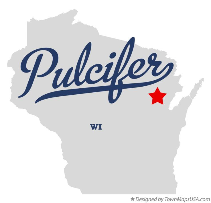 Map of Pulcifer Wisconsin WI