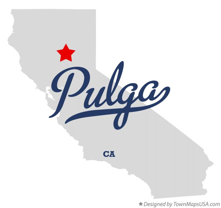 Map of Pulga California CA