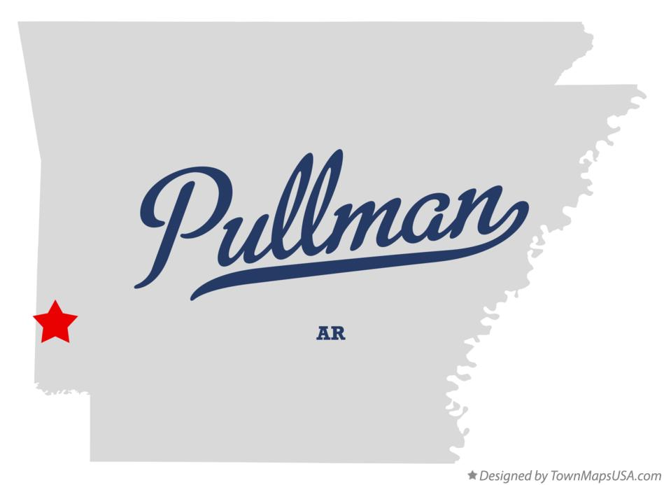 Map of Pullman Arkansas AR
