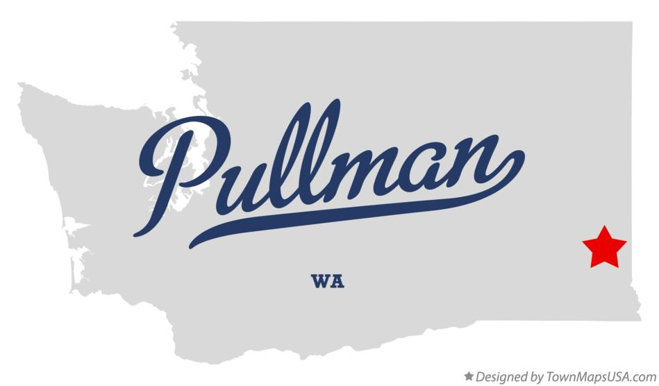 Map of Pullman Washington WA
