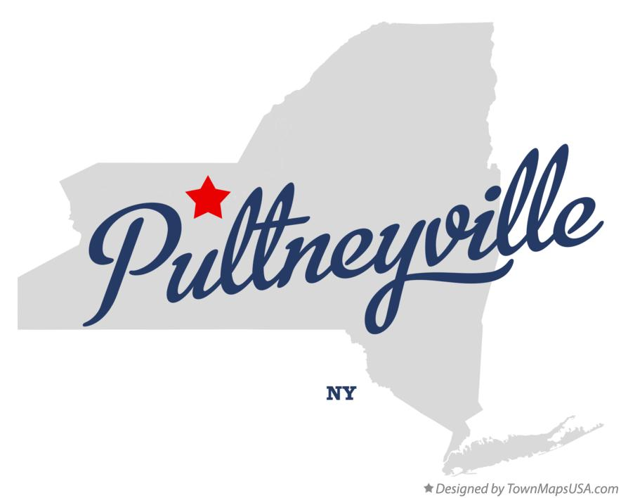 Map of Pultneyville New York NY