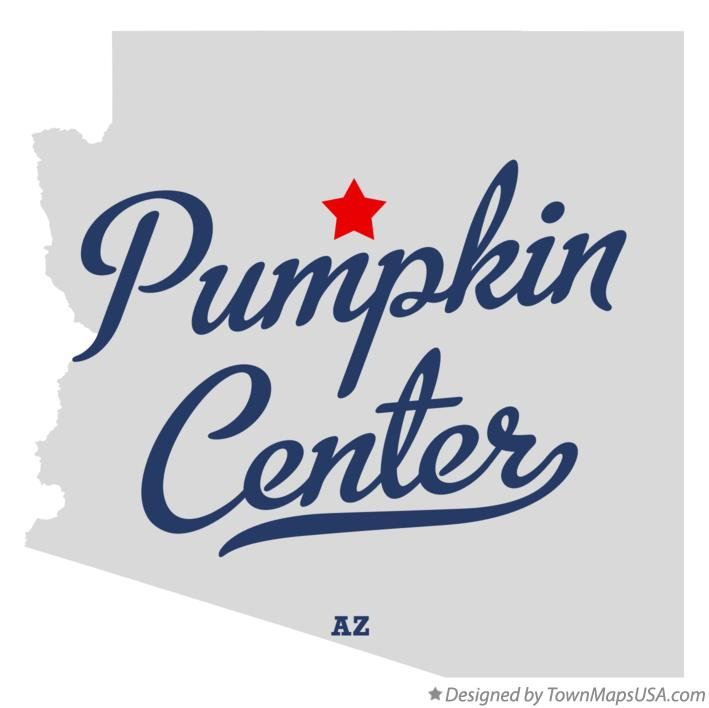 Map of Pumpkin Center Arizona AZ