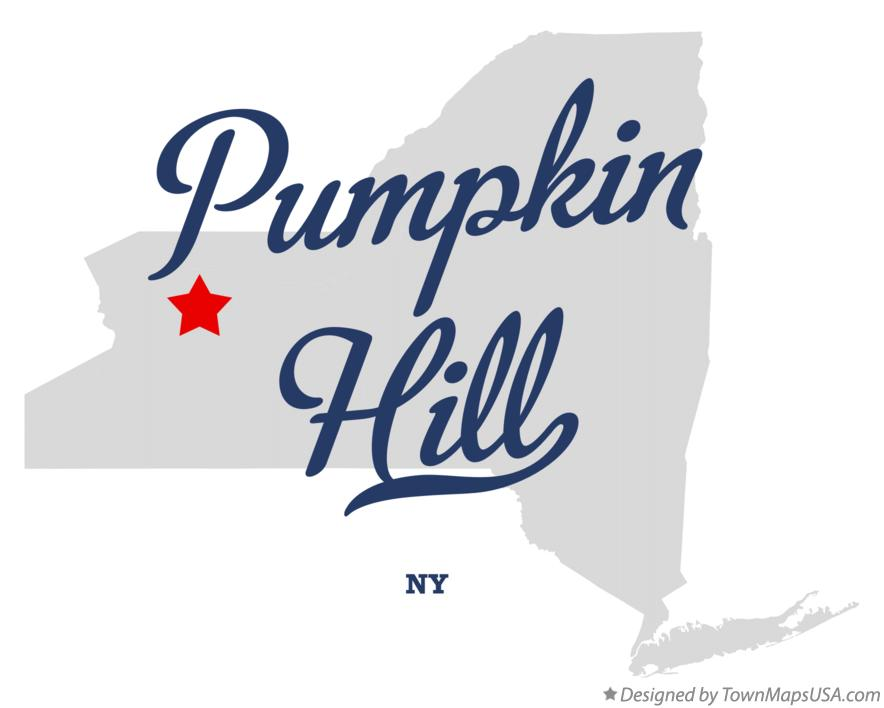 Map of Pumpkin Hill New York NY