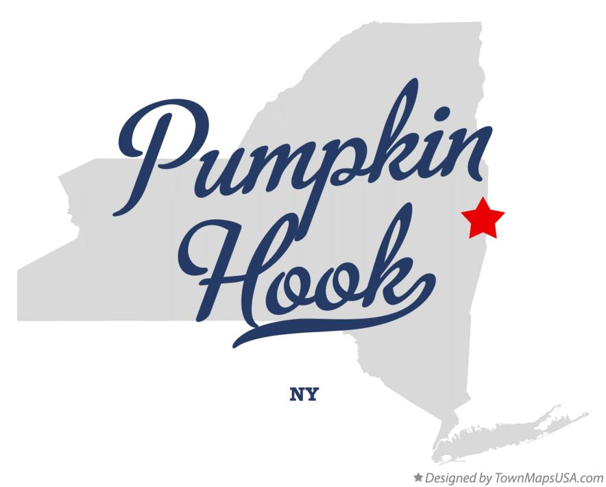Map of Pumpkin Hook New York NY