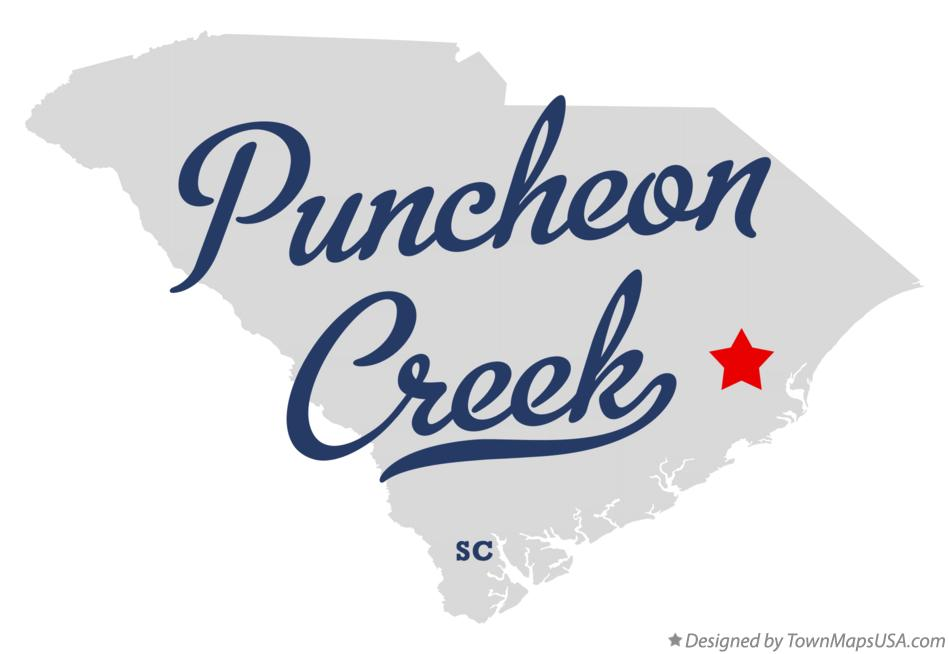 Map of Puncheon Creek South Carolina SC