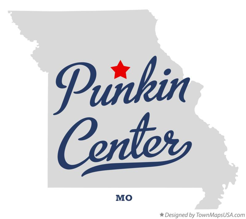 Map of Punkin Center Missouri MO