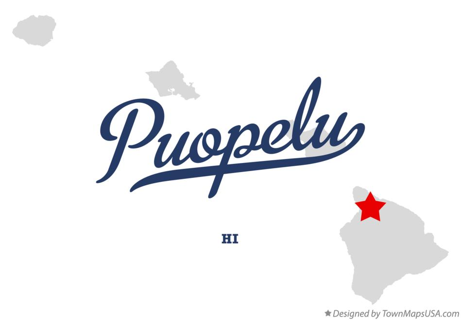 Map of Puopelu Hawaii HI