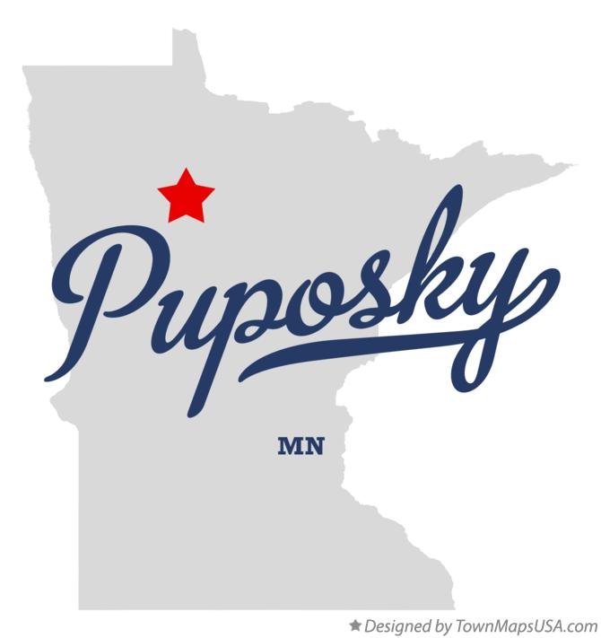 Map of Puposky Minnesota MN