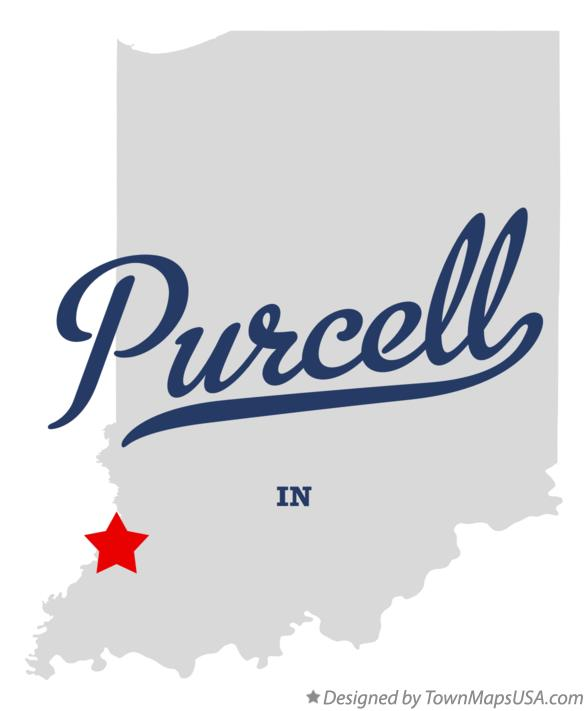 Map of Purcell Indiana IN