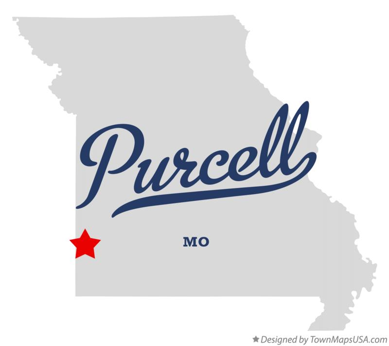 Map of Purcell Missouri MO